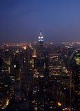 New York Skyline. New York City skyline on a stormy and misty night Royalty Free Stock Photo