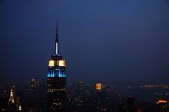 New York Skyline. New York City skyline on a stormy and misty night Royalty Free Stock Images