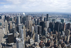 New York Skyline. Upper Manhattan Skyline from the Empire State Builing Stock Image