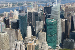 New York Skyline. Upper Manhattan Skyline from the Empire State Builing Royalty Free Stock Photo