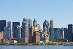 New York Skyline. Skyline of New York City, NY, USA Stock Images