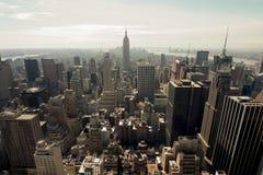 New York skyline. Taken from the Rockefeller Building Stock Image