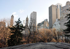 New York Skyline. The skyline of New York from within Central Park Royalty Free Stock Images