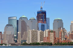 New York Skyline. The skyline of New York from Ellis IslandrnPicture taken November 23, 2011 Stock Images