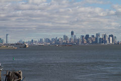 New York skyline. From Staten Island Royalty Free Stock Photos