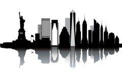 New York skyline. Black and white vector illustration Stock Image