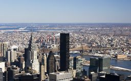 New York skyline. The New York skyline during daytime with Chrysler Building Royalty Free Stock Image