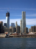 New York skyline. The New York skyline in a sunny day, with the Millennium Tower under construction Stock Photos