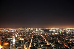 New York skyline. A view of New York skyline from the Empire State building Royalty Free Stock Image