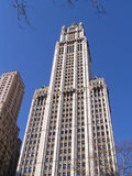 New York skyline 5. New York skyline, Woolworth building stock photo