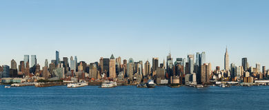 New York skyline. During the afternoon Royalty Free Stock Photos