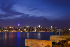 New York Skyline as seen from Brooklyn Royalty Free Stock Image