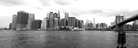 New York skyline from Brooklyn. The Manhattan skyline viewed from Brooklyn Royalty Free Stock Photography