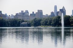 New York skyline. From Central Park Royalty Free Stock Photo