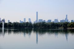 New York skyline. From Central Park Stock Photo