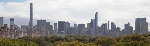 New York Skyline and Central Park. Royalty Free Stock Images