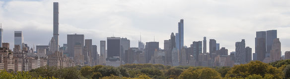 New York Skyline and Central Park. Stock Photos