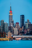 New York skyline at dusk Royalty Free Stock Photography