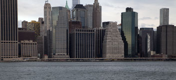 New york skyline. And east river Royalty Free Stock Image