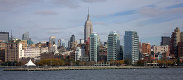 New York skyline with the Empire. New York skyline from a cruise Stock Photos