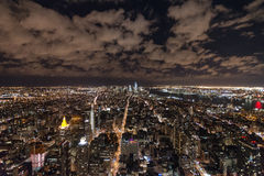 New York Skyline from Empire State Building. Managed to take this on perfectly clear night atop the empire state building, looks like the city goes on forever Royalty Free Stock Photos