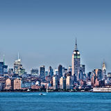 New York skyline with the Empire State Building Stock Photos