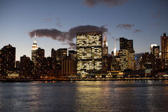 New York Skyline in the evening Stock Images