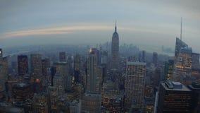 New York Skyline Fisheye stock footage