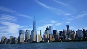 New York Skyline from the Hudson Royalty Free Stock Image