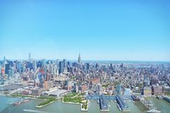 New York skyline from Jersey City Royalty Free Stock Image