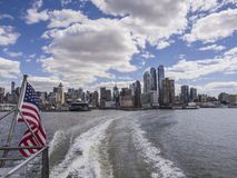 New York, skyline. The Lower West Side of Manhattan viewed from the Hudson River Royalty Free Stock Photography
