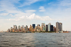 New York skyline, Manhattan. New York city skyline. View of Lower Manhattan Royalty Free Stock Image