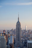 The New York Skyline of Manhattan looking south Royalty Free Stock Photo
