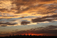 New York skyline sunset Royalty Free Stock Image
