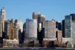 New York. Skyline (midtown) shot from Union City, NJ Royalty Free Stock Images