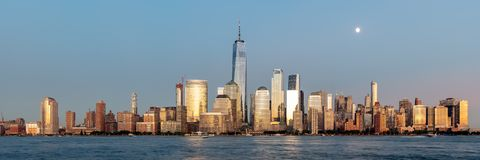 New York Skyline. From Newport Stock Photo