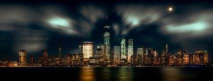 New York Skyline. From Newport royalty free stock photography