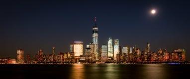 New York Skyline. From Newport royalty free stock photos