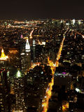 New york skyline in the night. From the Empire State building view royalty free stock photo