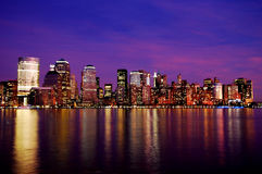 New York Skyline at night Royalty Free Stock Photos