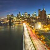 New york skyline at night Stock Photos