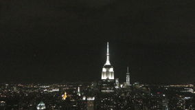 New York skyline at night 4K stock video footage