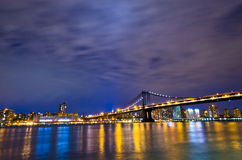 New York Skyline at night, USA. New York City, NYC, USA Royalty Free Stock Photos