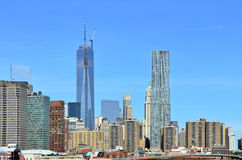 New York Skyline with One World Trade Stock Image