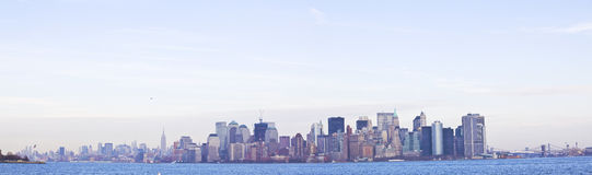 New york skyline panorama in background Stock Photo