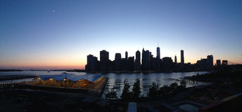 New York Skyline panorama. Evening New York Skyline panorama from Brooklyn Heights, USA Royalty Free Stock Photography