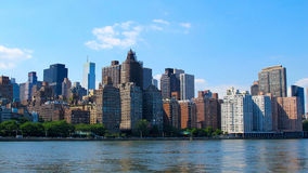 New York Skyline. This is a picture taken from Roosevelt Island. It shows some of the buildings in New York's east Manhattan Royalty Free Stock Photos