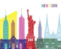 New York skyline pop. In editable vector file Stock Photos