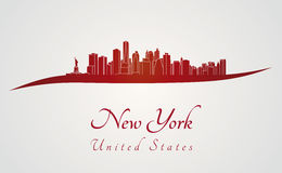 New York skyline in red Royalty Free Stock Images
