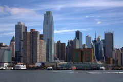 New York skyline from the river Stock Image